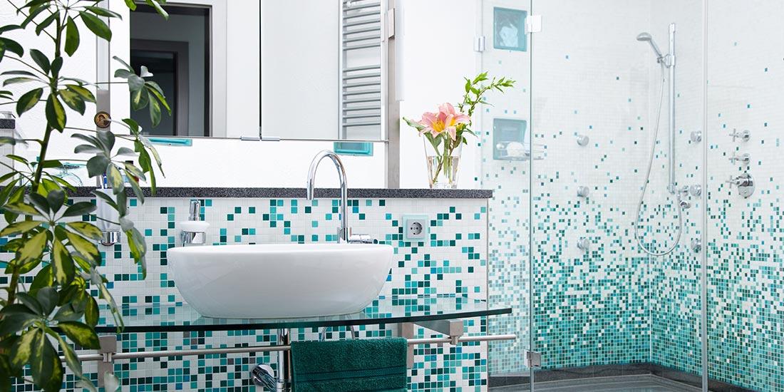 Decorative bathroom glass