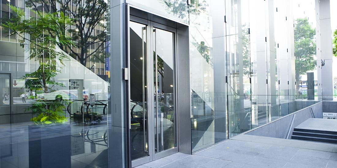 Commercial glazing - glass doors