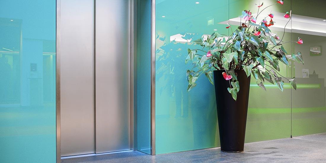 Decorative coloured glass