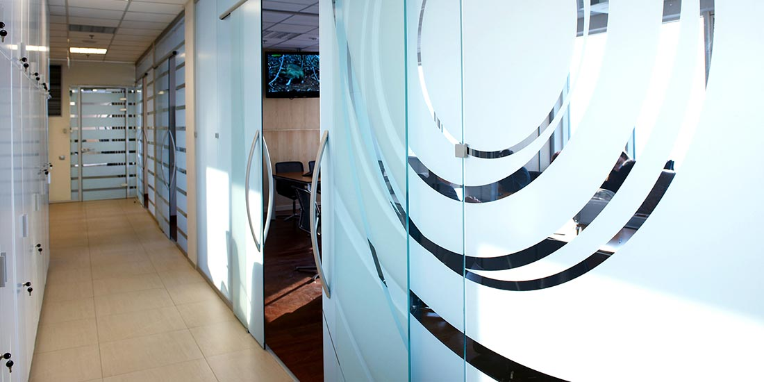 Frosted Glass Office Screens