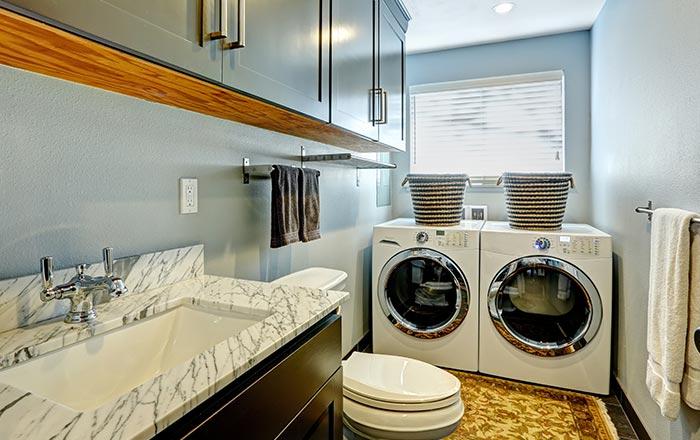 Laundry glass splashbacks